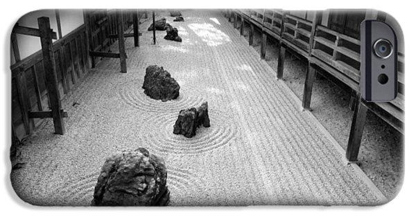 Landscape iPhone Cases - Japanese Zen Garden iPhone Case by Sebastian Musial