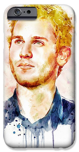 Marian iPhone Cases - Jason Wade watercolor iPhone Case by Marian Voicu