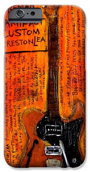 Woody Guthrie iPhone Cases - Jay Farrars Okemah Artifact Custom iPhone Case by Karl Haglund