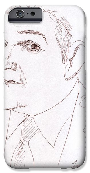 Jay Leno iPhone Case by Jose Valeriano