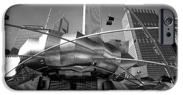 Chicago Paintings iPhone Cases - Jay Pritzker pavilion Chicago iPhone Case by Judith Barath