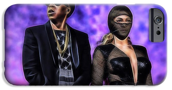 Jay Z iPhone Cases - Jay Z and Beyonce Collection iPhone Case by Marvin Blaine