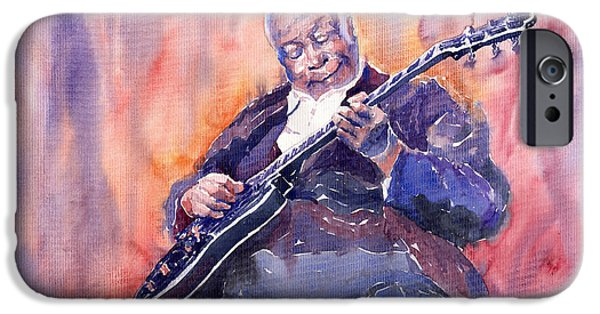 B.b.king iPhone Cases - Jazz B.B. King 03 iPhone Case by Yuriy  Shevchuk
