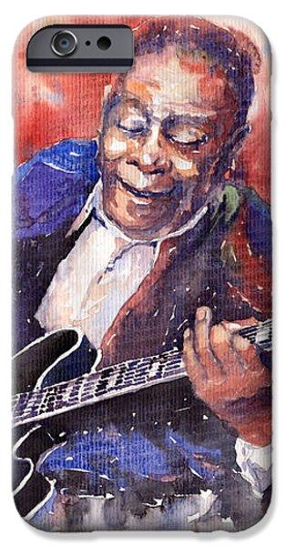 Jazz B B King 06 a iPhone Case by Yuriy  Shevchuk