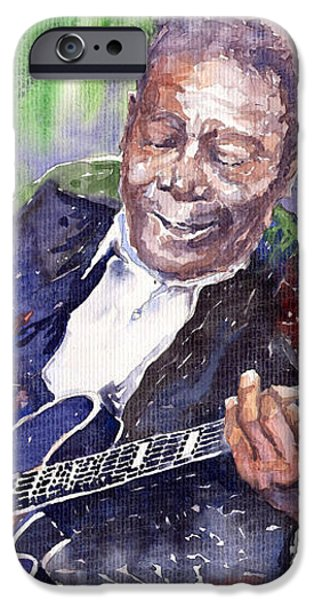 Jazz B B King 06 iPhone Case by Yuriy  Shevchuk