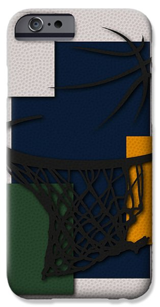 Utah Jazz iPhone Cases - Jazz Hoop iPhone Case by Joe Hamilton