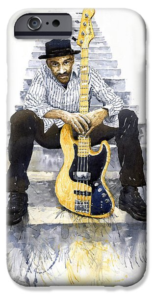Miller iPhone Cases - Jazz Marcus Miller 4 iPhone Case by Yuriy  Shevchuk