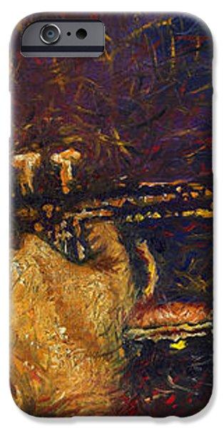 Jazz Miles Davis  iPhone Case by Yuriy  Shevchuk