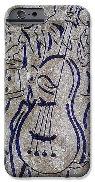Africa Tapestries - Textiles iPhone Cases - Jazz Music Makers iPhone Case by JoK