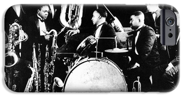 Harlem iPhone Cases - JAZZ MUSICIANS, c1925 iPhone Case by Granger