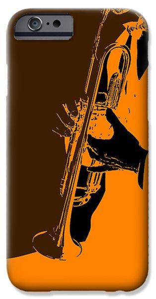 Sound Digital Art iPhone Cases - Jazz iPhone Case by Naxart Studio