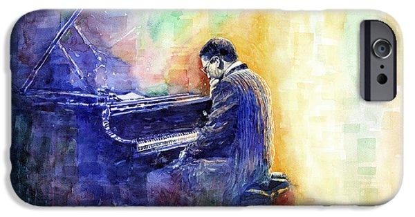 Piano iPhone Cases - Jazz Pianist Herbie Hancock  iPhone Case by Yuriy Shevchuk