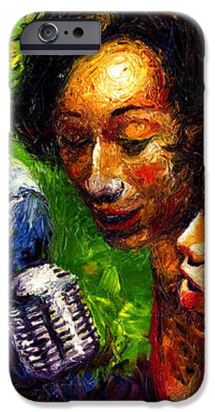 Jazz  Ray Song iPhone Case by Yuriy  Shevchuk