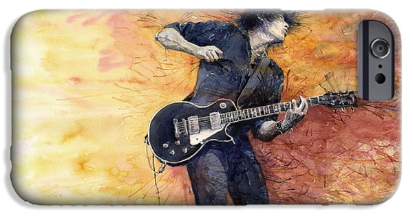 Figurativ iPhone Cases - Jazz Rock Guitarist Stone Temple Pilots iPhone Case by Yuriy  Shevchuk