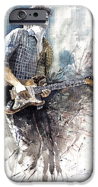 Figurativ iPhone Cases - Jazz Rock John Mayer 05  iPhone Case by Yuriy  Shevchuk