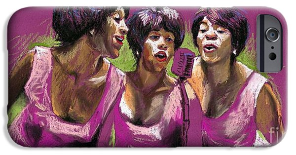 Figurativ iPhone Cases - Jazz Trio iPhone Case by Yuriy  Shevchuk