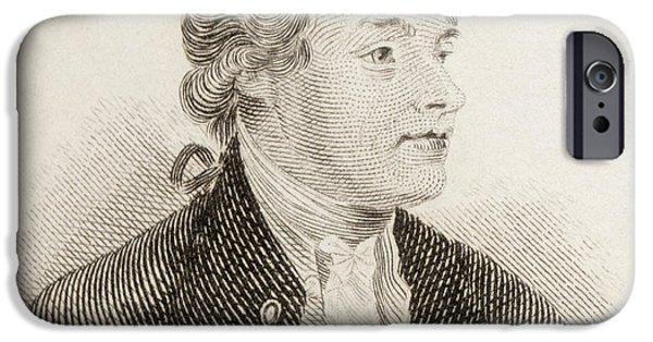 Swiss Drawings iPhone Cases - Jean-louis De Lolm, 1741 To 1804. Swiss iPhone Case by Ken Welsh