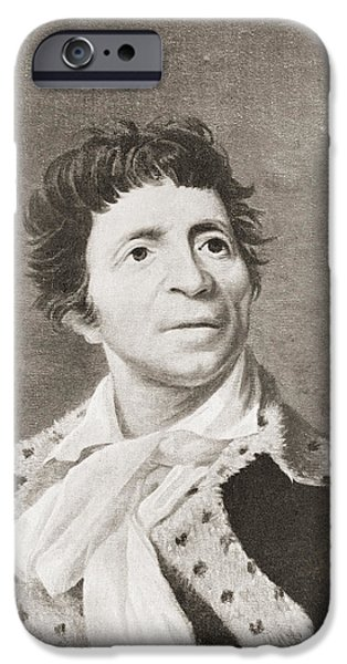 Politician iPhone Cases - Jean-paul Marat, 1743 iPhone Case by Ken Welsh