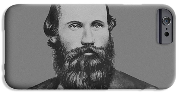 Stars Mixed Media iPhone Cases - JEB Stuart -- Confederate General iPhone Case by War Is Hell Store