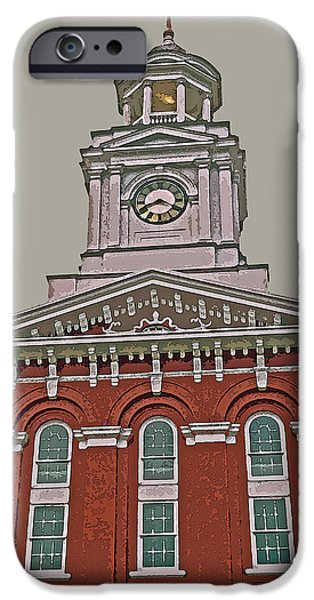 Abstract Digital iPhone Cases - Jefferson County Courthouse iPhone Case by Jean Hall