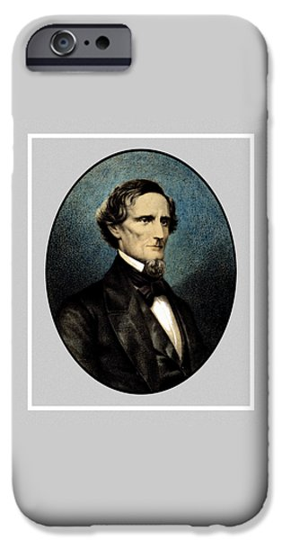 President iPhone Cases - Jefferson Davis iPhone Case by War Is Hell Store