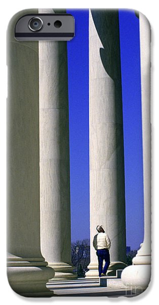 Of Power iPhone Cases - Jefferson Memorial Columns iPhone Case by Thomas R Fletcher