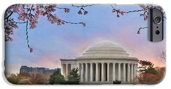 President iPhone Cases - Jefferson Memorial iPhone Case by Lori Deiter