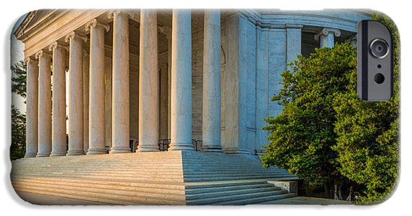 Thomas Jefferson iPhone Cases - Jefferson Memorial Panorama iPhone Case by Inge Johnsson