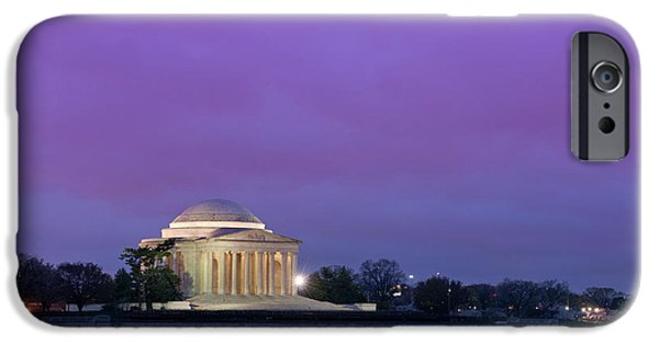 Spring Photographs iPhone Cases - Jefferson Monument iPhone Case by Sebastian Musial