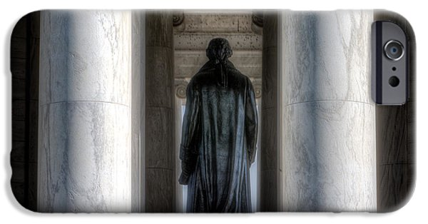 D.c. iPhone Cases - Jefferson Statue Jefferson Memorial iPhone Case by Jerry Fornarotto