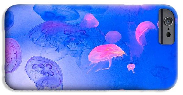 Marine iPhone Cases - Jellyfish Planet iPhone Case by Steve Harrington