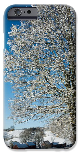 New England Landscapes iPhone Cases - Jenne Farm Winter in Vermont iPhone Case by Edward Fielding