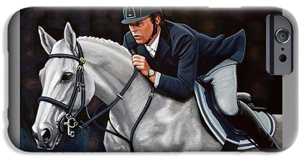 Horse Bit iPhone Cases - Jeroen Dubbeldam on the Sjiem iPhone Case by Paul Meijering