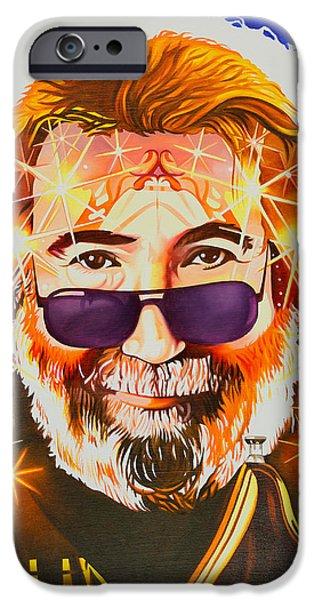 Morton iPhone Cases - Jerry Garcia-Dark Star iPhone Case by Joshua Morton