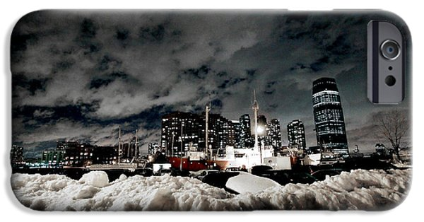 Winter Storm iPhone Cases - Jersey City Winterscape iPhone Case by David Samsky
