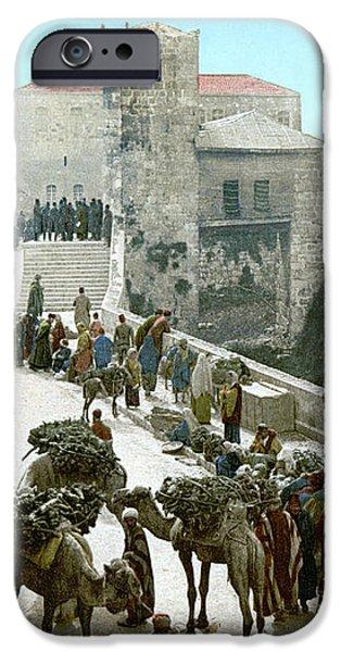 JERUSALEM: BAZAAR, c1900 iPhone Case by Granger