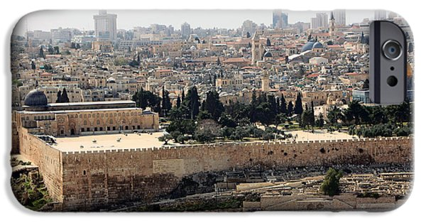 The Dome iPhone Cases - Jerusalem Walls iPhone Case by Munir Alawi