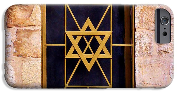 Pentecost Window iPhone Cases - Jerusalem Window on Mt. Zion Israel iPhone Case by Brian Tada
