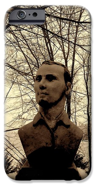 History Sculptures iPhone Cases - Jesse James iPhone Case by Vincent von Frese