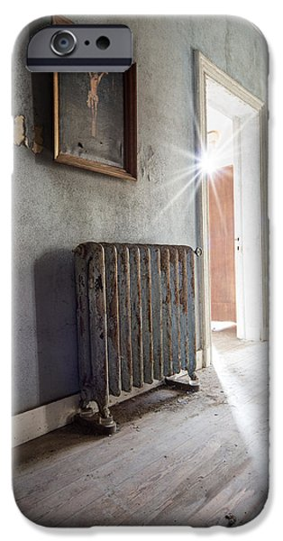 Recently Sold -  - Ruin iPhone Cases - Jesus above the heater - abandoned building iPhone Case by Dirk Ercken