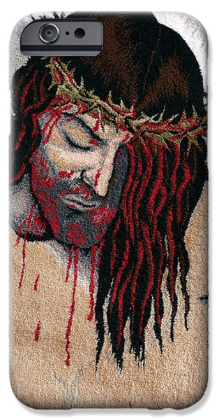 Jesus Tapestries - Textiles iPhone Cases - Jesus Christ iPhone Case by Mimoza Xhaferi