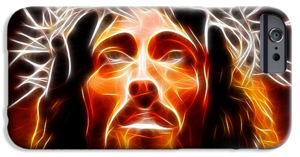 Jesus Face iPhone Cases - Jesus Christ Our Savior iPhone Case by Pamela Johnson