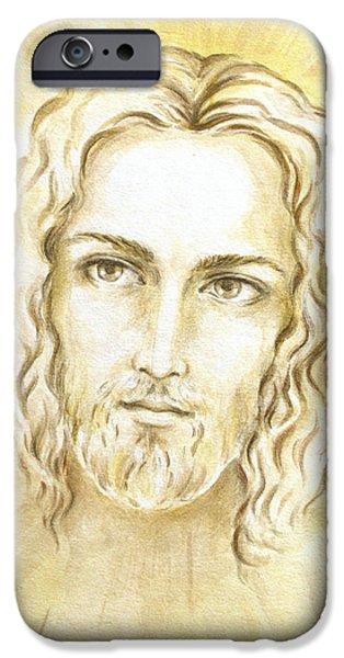Jesus in Light iPhone Case by Stoyanka Ivanova