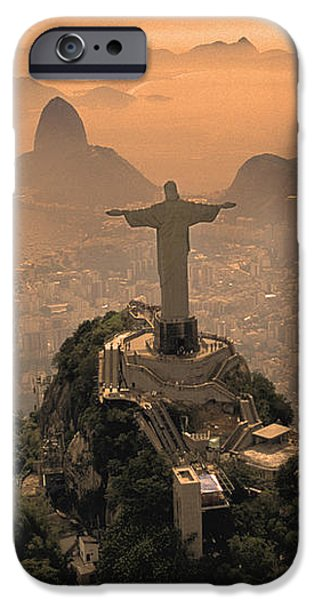 Jesus in Rio iPhone Case by Christian Heeb