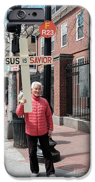 Cambridge iPhone Cases - Jesus Is Savior iPhone Case by Edward Fielding