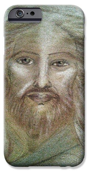 Son Of God Pastels iPhone Cases - Jesus iPhone Case by Jennifer Kamadon