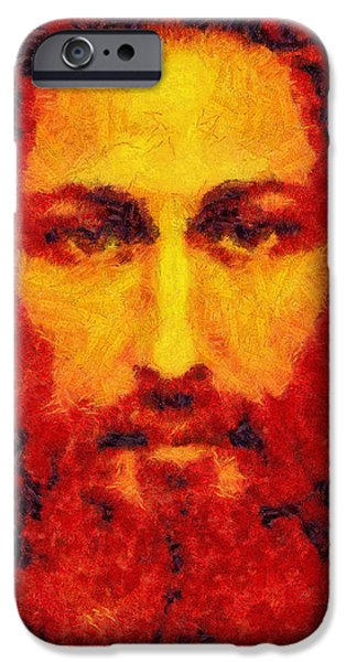 Book Of Daniel iPhone Cases - Jesus Light of the World iPhone Case by Riccardo Zullian