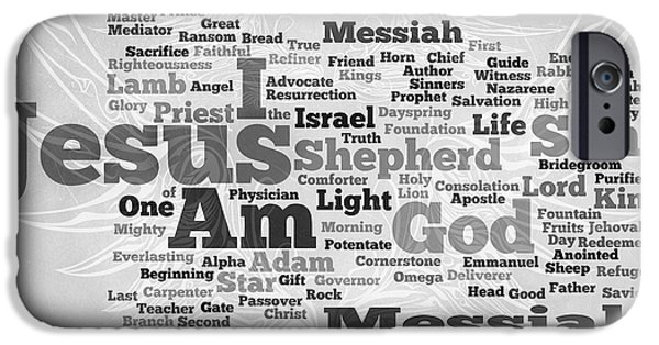 Bridegroom iPhone Cases - Jesus Messiah iPhone Case by Angelina Vick