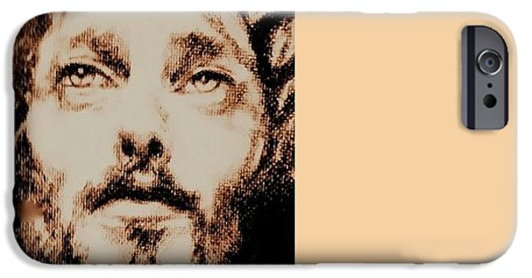 Jesus Drawings iPhone Cases - Jesus iPhone Case by Ralph Lederman