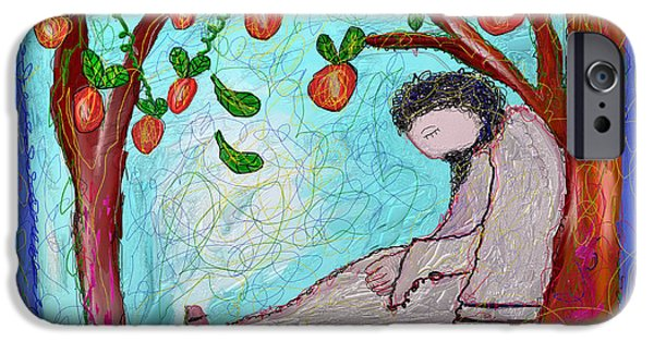 Symbol Of The Soul iPhone Cases - Jesus Sleeping Under the Apple Tree iPhone Case by Ian Roz